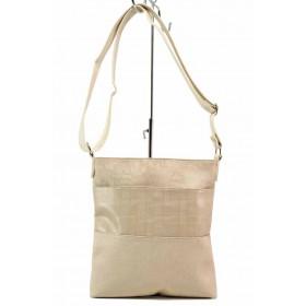 Дамска чанта - висококачествена еко-кожа - бежови - EO-17688