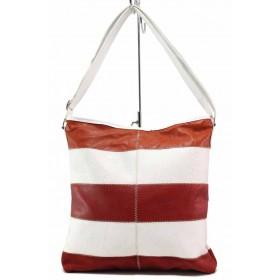 Дамска чанта - висококачествена еко-кожа - бели - EO-17691