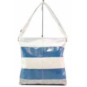 Дамска чанта - висококачествена еко-кожа - бели - EO-17692