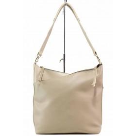 Дамска чанта - висококачествена еко-кожа - бежови - EO-17693