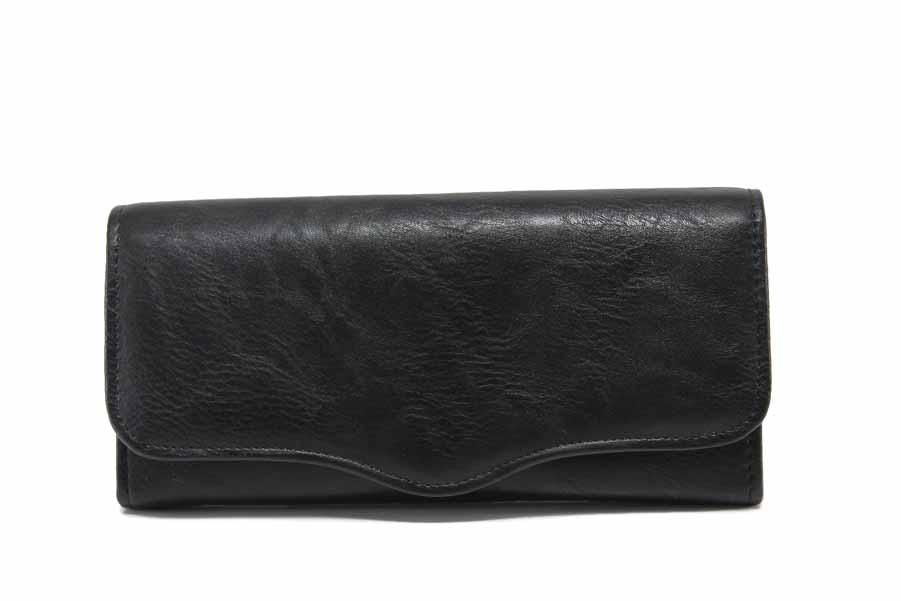 Дамско портмоне - естествена кожа - черни - EO-17708