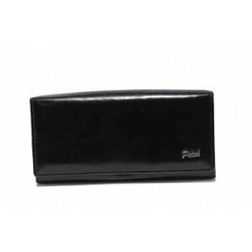 Дамско портмоне - естествена кожа - черни - EO-17709