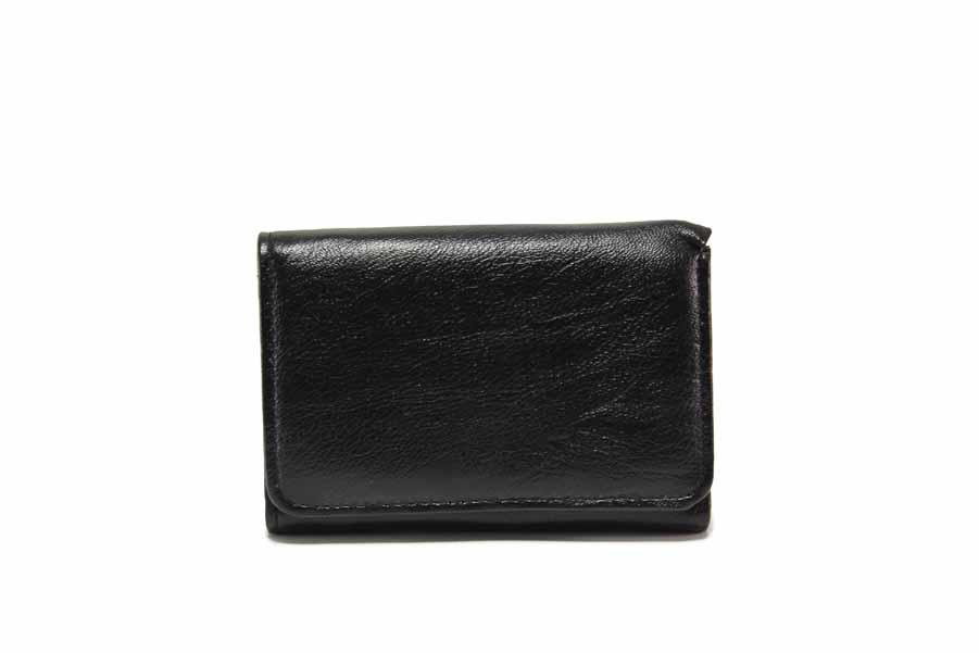Дамско портмоне - естествена кожа - черни - EO-17713