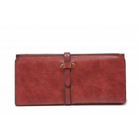 Дамско портмоне - висококачествена еко-кожа - червени - EO-17726