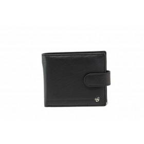 Мъжки портфейл - естествена кожа - черни - EO-17732