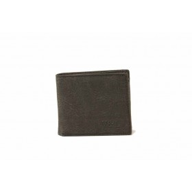 Мъжки портфейл - естествена кожа - тъмнокафяв - EO-17735