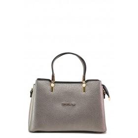Дамска чанта - висококачествена еко-кожа - сиви - EO-18228