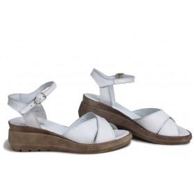 Дамски сандали - естествена кожа - бежови - EO-18540