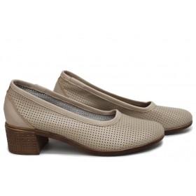 Дамски сандали - естествена кожа - бежови - EO-18542