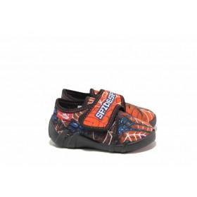 Детски пантофи - висококачествен текстилен материал - червени - EO-17803