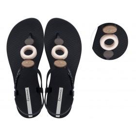 Дамски сандали - висококачествен pvc материал - черни - EO-18500