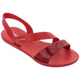 Дамски сандали - висококачествен pvc материал - червени - EO-18502