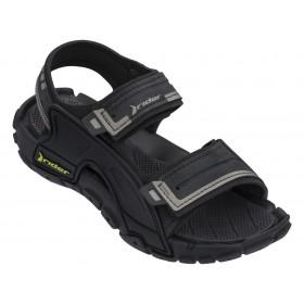 Юношески сандали - висококачествен pvc материал - черни - EO-18352