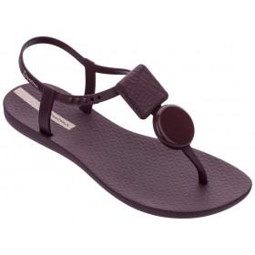 Дамски сандали - висококачествен pvc материал - лилави - EO-18504