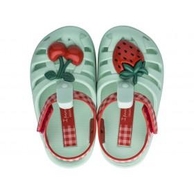 Детски сандали - висококачествен pvc материал - зелени - EO-17946