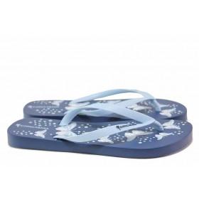 Джапанки - висококачествен pvc материал - сини - EO-18469