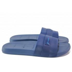 Джапанки - висококачествен pvc материал - сини - EO-18479