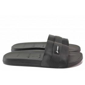 Джапанки - висококачествен pvc материал - черни - EO-18473