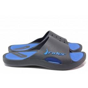 Джапанки - висококачествен pvc материал - сини - EO-18478