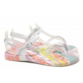 Дамски сандали - висококачествен pvc материал - бели - EO-18460