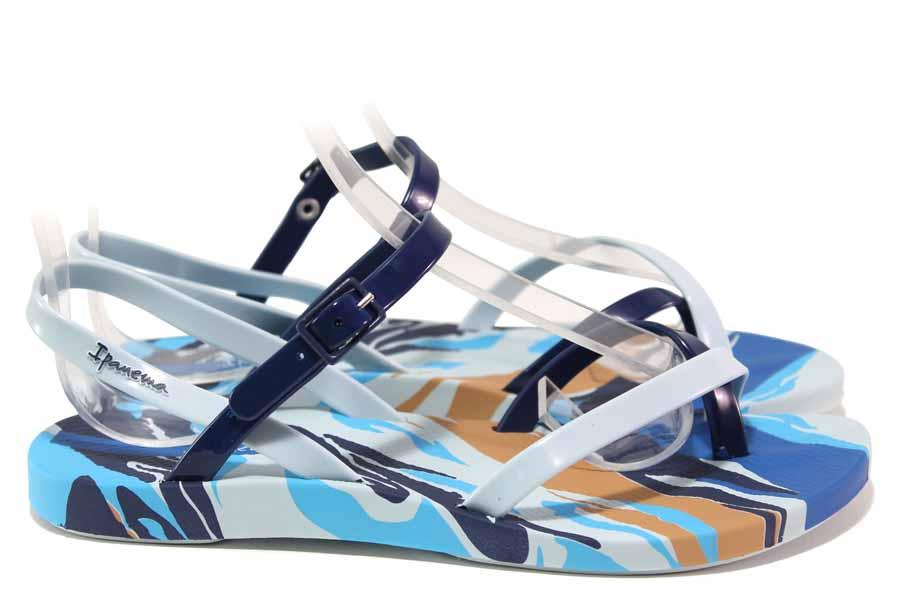 Дамски сандали - висококачествен pvc материал - сини - EO-18461