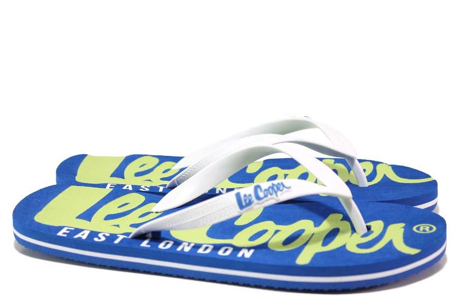 Джапанки - висококачествен pvc материал - сини - EO-18531