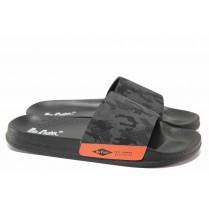 Джапанки - висококачествен pvc материал - черни - EO-18529