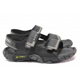 Мъжки сандали - висококачествен pvc материал - черни - EO-18563