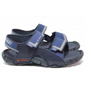 Мъжки сандали - висококачествен pvc материал - сини - EO-18564