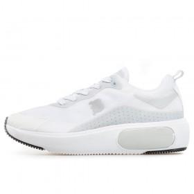 Дамски маратонки - висококачествен текстилен материал - бели - EO-17890
