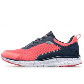Дамски маратонки - висококачествен текстилен материал - розови - EO-17886