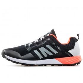 Спортни мъжки обувки - висококачествен текстилен материал - черни - EO-17878