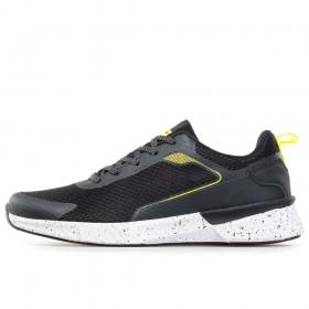 Спортни мъжки обувки - висококачествен текстилен материал - черни - EO-17862
