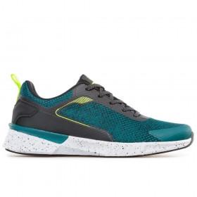 Спортни мъжки обувки - висококачествен текстилен материал - зелени - EO-17861