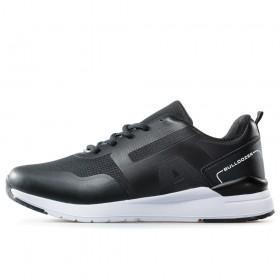 Спортни мъжки обувки - висококачествен текстилен материал - черни - EO-17863