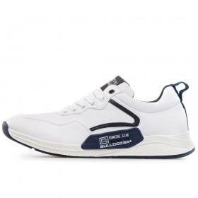 Спортни мъжки обувки - висококачествена еко-кожа - бели - EO-17867