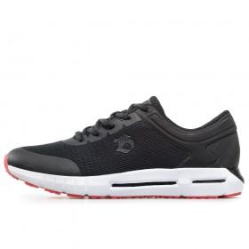 Спортни мъжки обувки - висококачествен текстилен материал - черни - EO-17883
