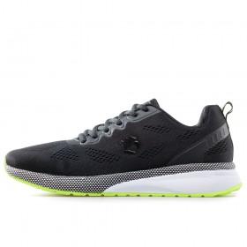 Спортни мъжки обувки - висококачествен текстилен материал - черни - EO-17860