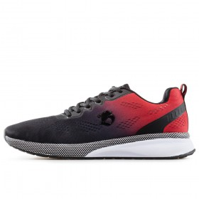 Спортни мъжки обувки - висококачествен текстилен материал - червени - EO-17859
