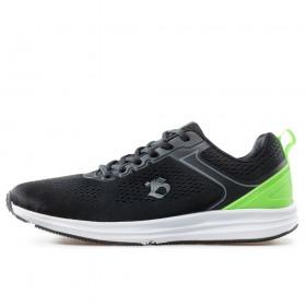 Спортни мъжки обувки - висококачествен текстилен материал - черни - EO-17858