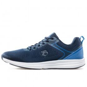 Спортни мъжки обувки - висококачествен текстилен материал - тъмносин - EO-17857
