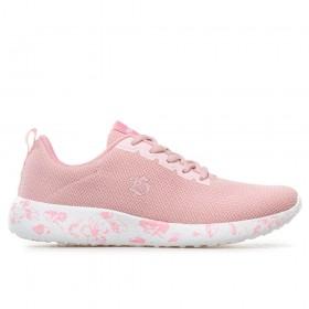 Дамски маратонки - висококачествен текстилен материал - розови - EO-17896