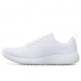 Дамски маратонки - висококачествен текстилен материал - бели - EO-17897