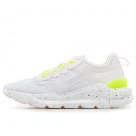 Дамски маратонки - висококачествен текстилен материал - бели - EO-17891