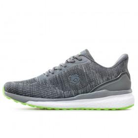 Спортни мъжки обувки - висококачествен текстилен материал - сиви - EO-17879