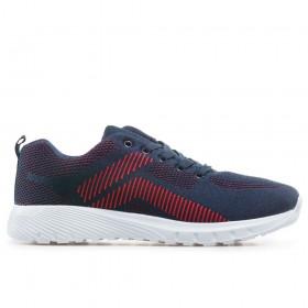 Мъжки маратонки - висококачествен текстилен материал - тъмносин - EO-18251