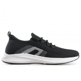 Юношески маратонки - висококачествен текстилен материал - черни - EO-18245