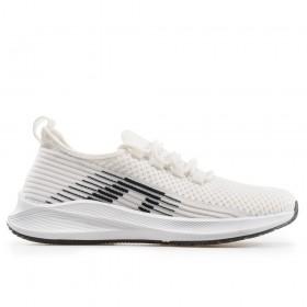 Юношески маратонки - висококачествен текстилен материал - бели - EO-18246