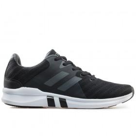 Спортни мъжки обувки - висококачествен текстилен материал - черни - EO-17872