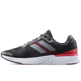 Юношески маратонки - висококачествен текстилен материал - черни - EO-17901